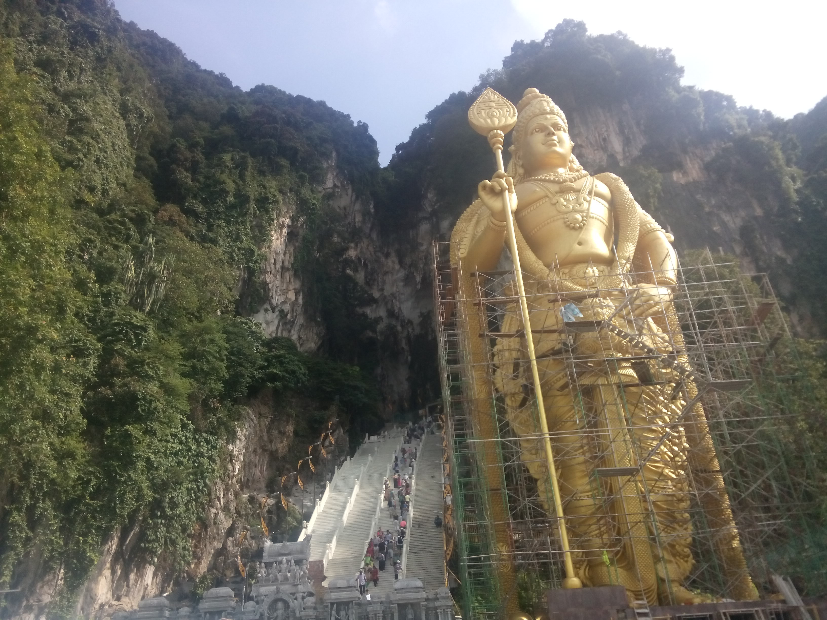 Steps and entrance to Batu Caves