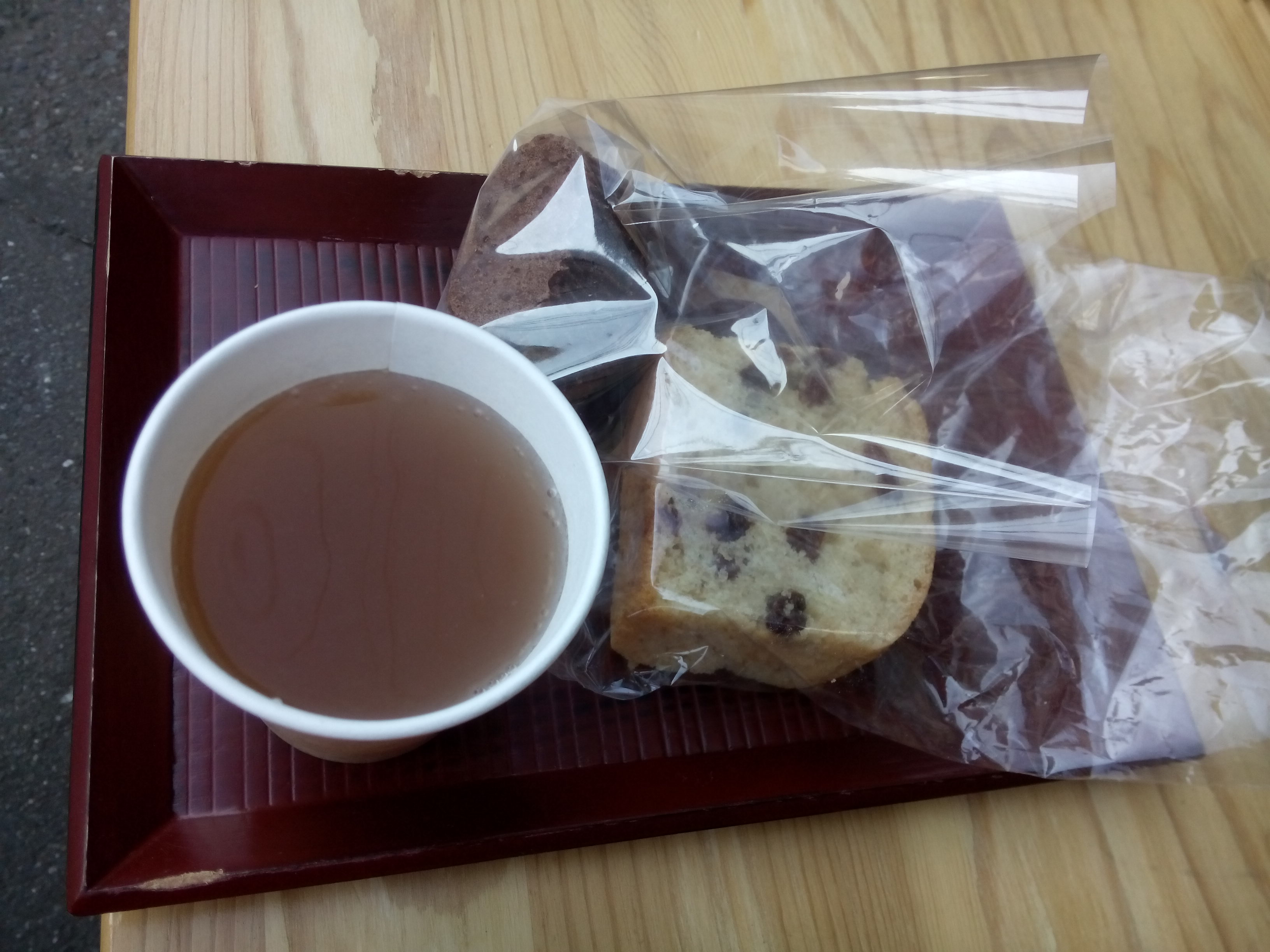 Soy bean tea and cakes.