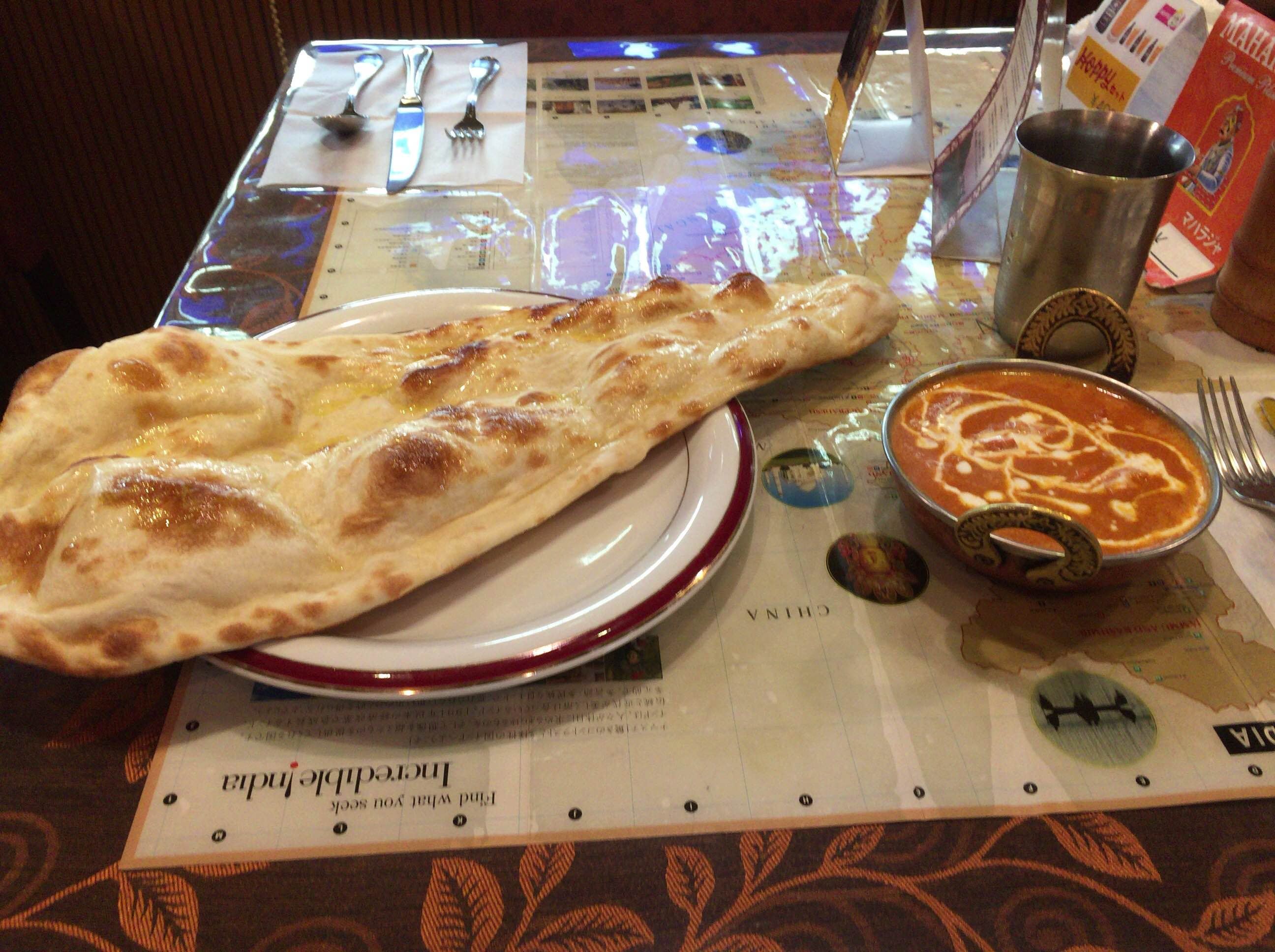 J's naan and butter chicken
