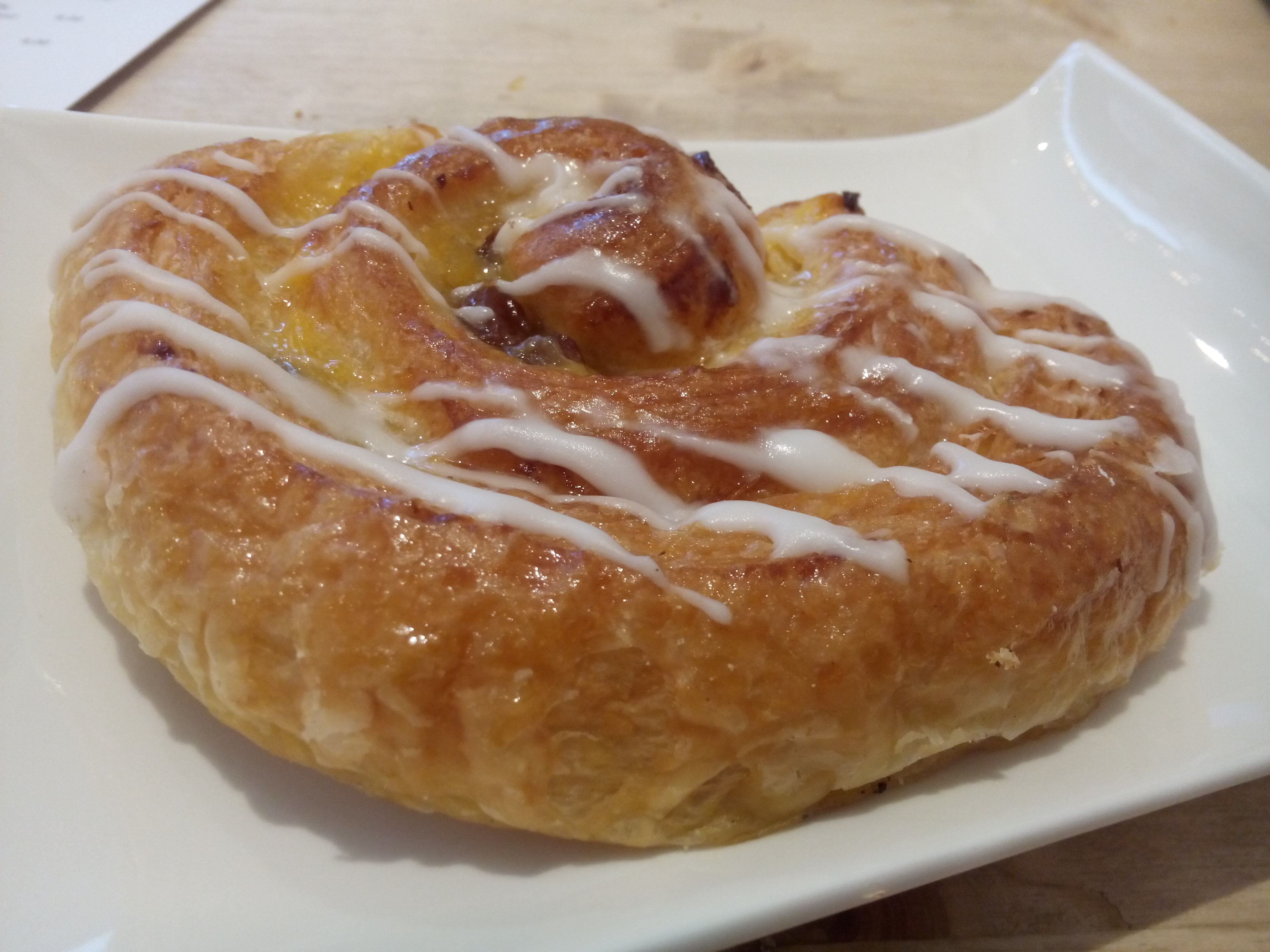 A danish pastry on a plate