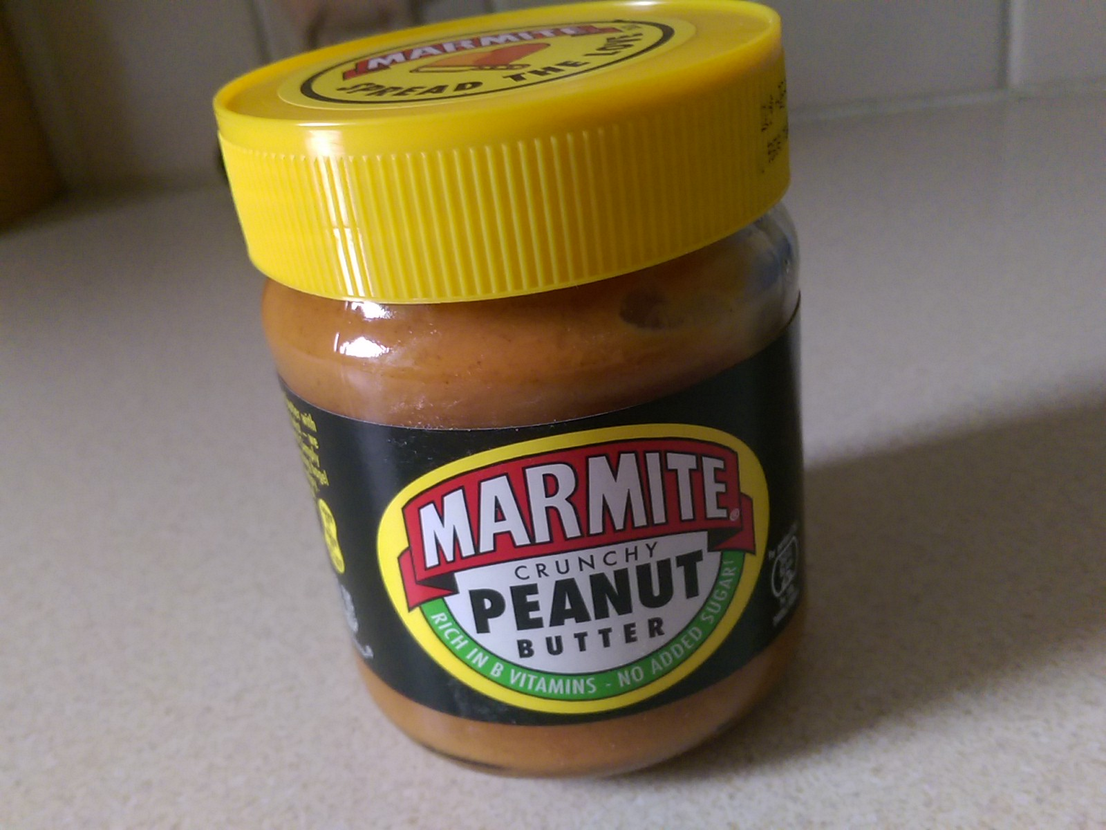 A jar of peanut butter flavoured marmite