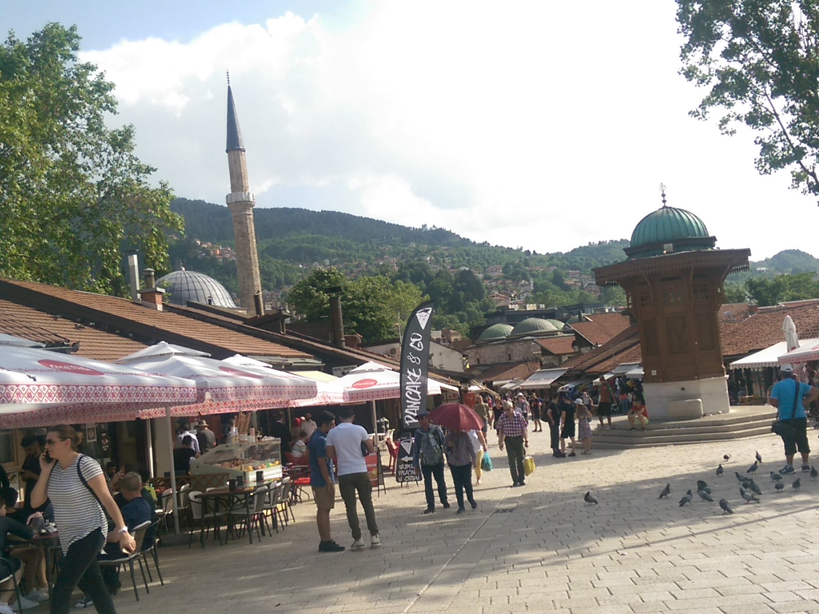 Pigeon Square in Sarajevo old town