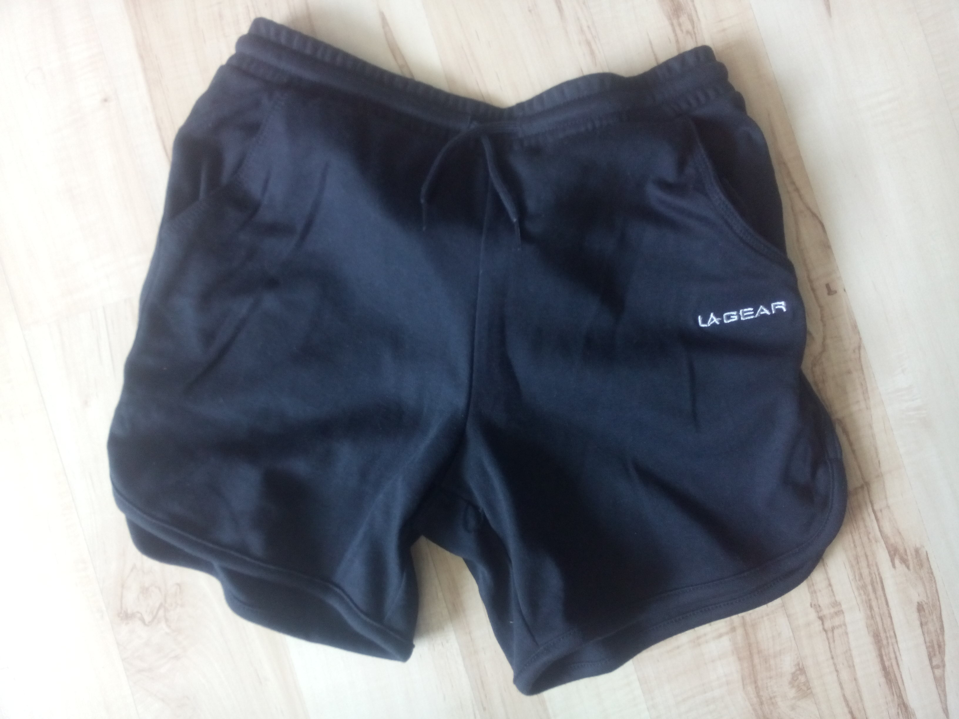 A pair of soft black shorts