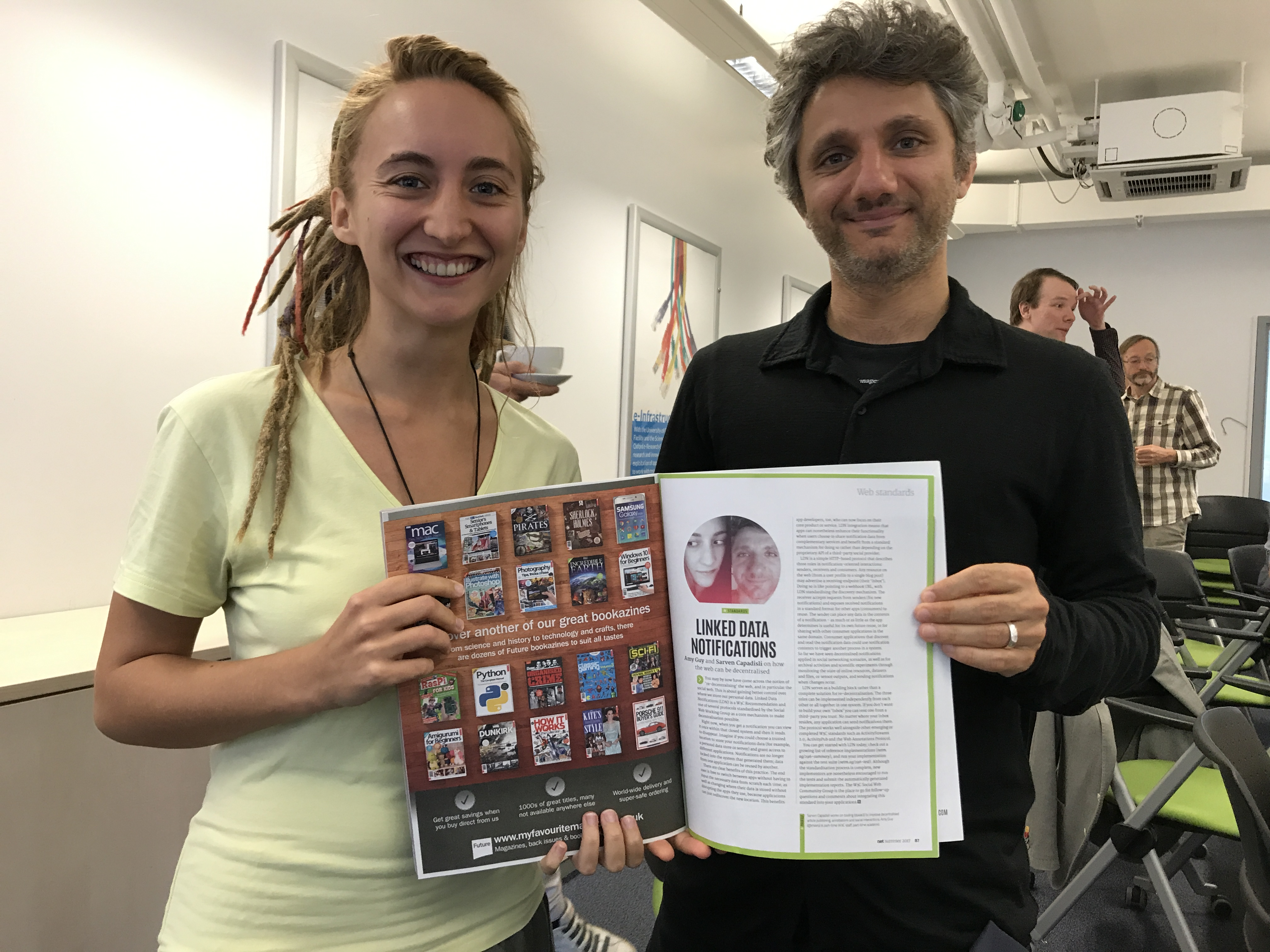 A photo of rhiaro and csarven with their netmag article